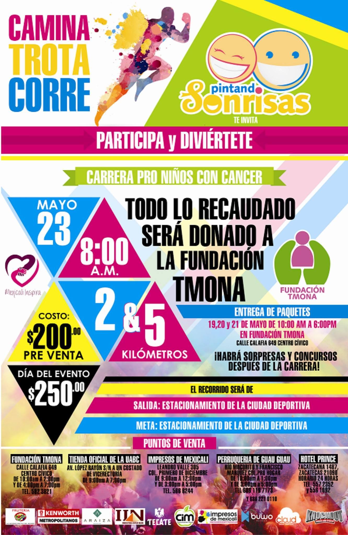 CARRERA PRO NIÑOS CON CÁNCER (PINTANDO SONRISAS) 5 y 2 Km. (23/05 ...