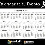 Calendariza tu Evento para este 2018.