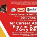 """1er. Carrera Atlética """"Km x mi Ciudad"""" 2 Km. y 10 Km. (11/02/2018)"""