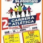 """2da. Carrera Atlética Rumbo al Centenario Primaria Benemérita """"Leona Vicario"""".(14/04/2018)"""