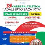 35 Carrera Atlética Adalberto Baca Ixta. (02/06/2018)