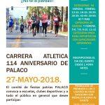 Carrera Atlética 114 Aniversario de Palaco. (27/05/2018)