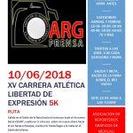 CARRERA ATLÉTICA LIBERTAD DE EXPRESIÓN 2018