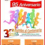 3ra. Carrera Atlética Rumbo al Centenario. (30/03/2019)