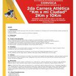 """2da. Carrera Atlética """"Km x mi Ciudad"""" 2 y 10K (12/05/2019)"""