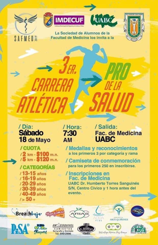 3ra. Carrera Atlética Pro de la Salud.(18/05/2019)