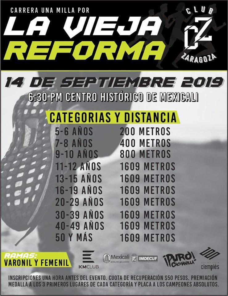 Carrera una Milla por la Vieja Reforma. (14/09/2019)