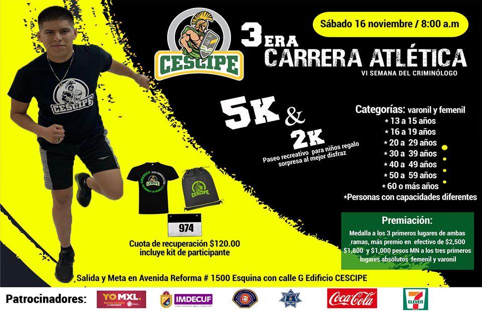 3ra. Carrera Atlética CESCIPE. (16/11/2019)