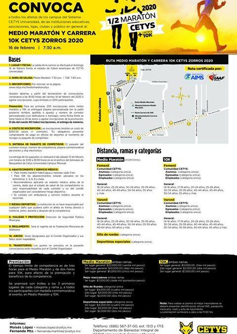 1/2 Maratón Cetys + Carrera 10K. (16/02/2019)