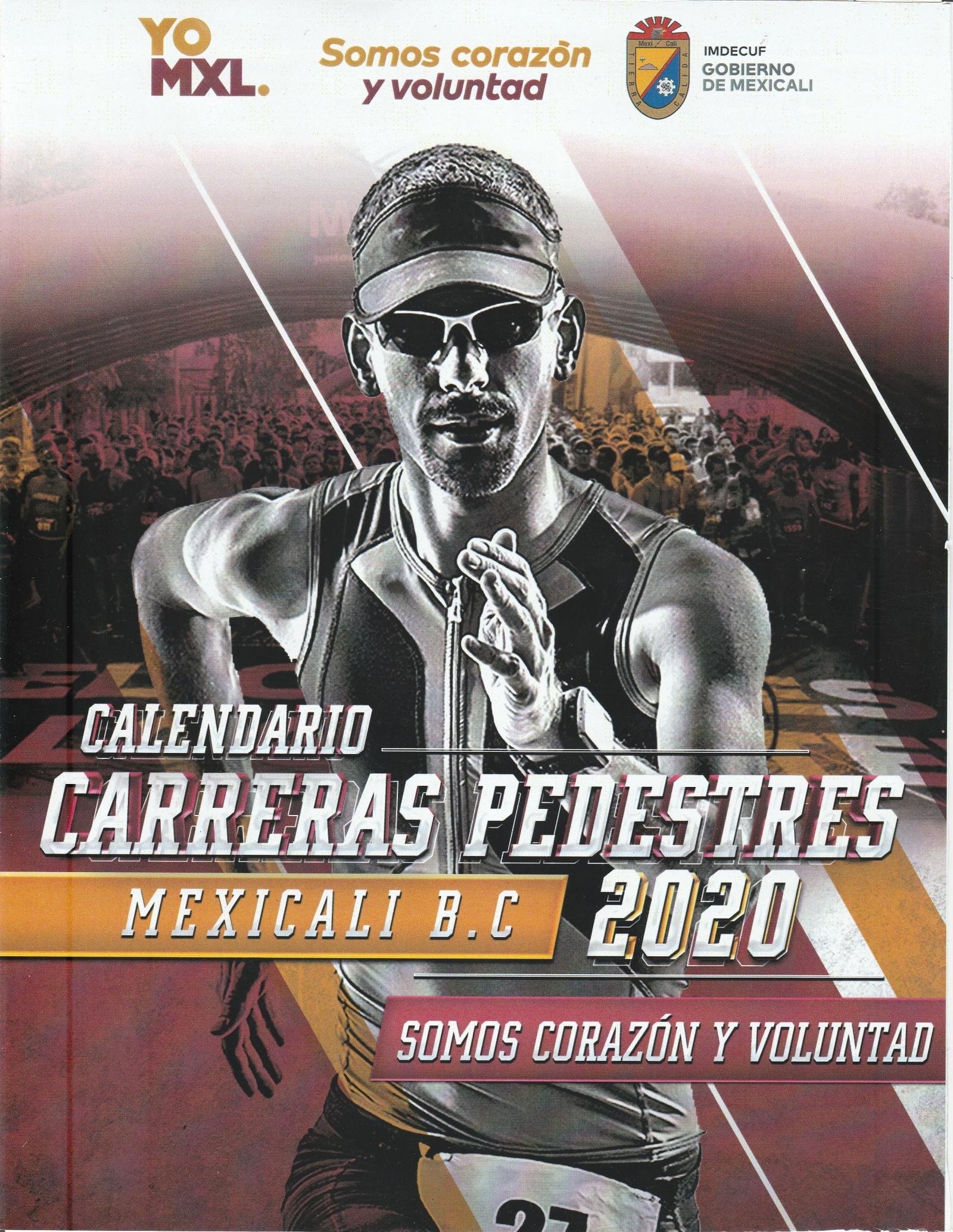 Calendario de Carreras Pedestres 2020.