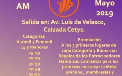 1ra. Carrera Atlética Family Fitness. (25/05/2019)